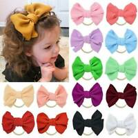 Handmade Infant Baby Girls Large Bow Headband Toddler Knot Hair Band Head Wrap,