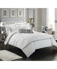 Chic 10-Piece King Comforter Set Dorothy White/Grey T94363