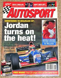 Autosport 16/3/95* WRC PORTUGAL - F1 TESTING - ARROWS FA16 - GIL DE FERRAN DEBUT