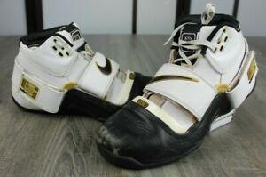 Rare Nike Zoom Lebron Soldier 1 White Gold 2007 Jordan 316643 Size 11.5