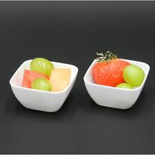 24 X 55mm Blanco Mini Plástico Aperitivo Bols Postre Salsa Comida Chapuzón