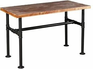 Industrial Pipe Table Rectangular Dining &homeoffice Desk Computer Table (29.5H)