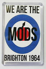 WE ARE THE MODS BRIGHTON 1964 FRIDGE MAGNET