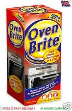 OVEN BRITE CLEANER KIT KITCHEN CLEANING SOLUTION LIQUID GLOVES DEGREASE BAG