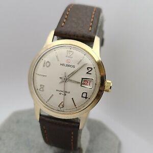 Vintage Helbros Men's manual winding watch 17Jewels Lorsa P75 France 1960s