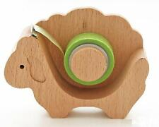 Sheep shape wooden cute tape holder dispenser animal lover + 1 free random tape