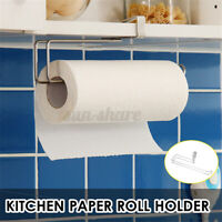 Under Cabinet Paper Roll Rack Shelf Towel Holder Stand Hanger Organizer Too