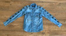 Neu Philipp Plein Hemd Sweatshirt Denim Shirt LS Stars Gr L Neu