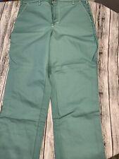 Green Flame Resistant Retardant Weld Arc Protect Pants 40 X 30 Sager