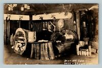 RPPC Bear Mountain Inn Front Desk & Showcase New York Real Photo c1939 Postcard