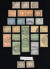 Países Bajos 1898-23 un estudio de la edición definitiva SG 167 y SG 172 VFU
