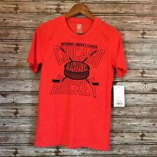 Nhl Boys' BlackHawks T Shirt- Red, Official Licensed Product- Size L 14/16