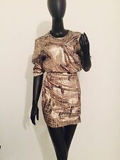 Isabel Marant For H&m Gold Dress Sz10 Small