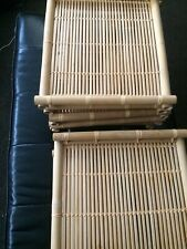 "Lot Of 9 Floating Neatly Woven Bamboo Shelves 16"" X 15"""
