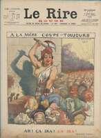 Journal Le RIRE Rouge, édition de guerre N° 87 du 15 juillet 1916