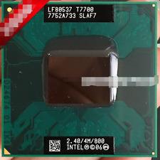 Details about  Intel Core 2 Duo T7700 SLAF7 SLA43 2.4 GHZ 4MB 800MHZ Socket P P