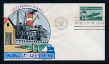 U.S. 1091 Wm. Wright hand painted FDC, Navy, ship, military