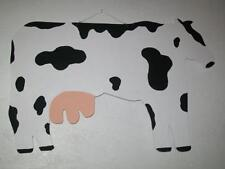 Primitive Holstein Milk COW Rustic Farm Country Home Decor Wood Sign Wall Decor