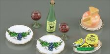 12th scale Cheese and wine set by Reutter Porzellan of Germany