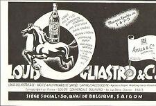 VIETNAM SAIGON PUBLICITE STE LOUIS OGLIASTRO CHAMPAGNE AYALA COGNAC ROBIN 1953