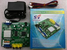 Video Converter for replace to Amiga 1200 2000 RGB Monitor + Power adapter 5V 2A