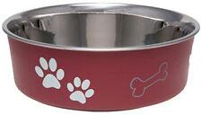 STAINLESS STEEL Dog Puppy Designer Bella Non Skid Bowl