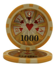 50pcs High Roller Casino Laser Clay Poker Chips $1000