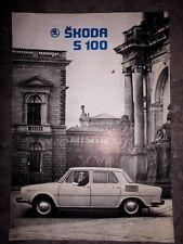 Prospekt  SKODA S 100 CSSR MLADA BOLESLAV OLDTIMER 1969 SAMMLER A4