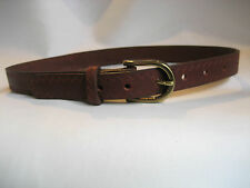 GENUINE  TAN EDGE EMBOSSED LEATHER KIDS/CHILDRENS BELT