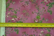 """33"""" Long x 44"""" Wide, Floral on Raspberry StripesQuilter's Cotton, SSI, M6908"""