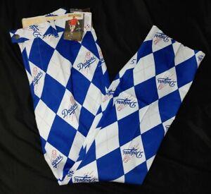 NEW Men's Loudmouth Los Angeles Dodgers MLB Argyle Golf Pants Size 32x34