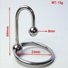 Stainless Steel Male Urethral Sounds Stretching Dilator Penis Plug with Ring