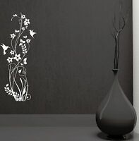 Wall Decal Beautiful Home Decoration Flower Birds Patterns Vinyl Mural (ig2878)