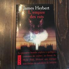 """L'EMPIRE DES RATS  """"James HERBERT"""" PRESSE POCKET TERREUR"""