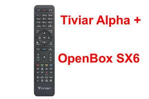 Fernbedienung für  OpenBox SX6  AUCH  Tiviar Alpha Plus auch für OpenBox SX6