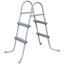 More details for bestway 33in flow clear above ground metal frame step ladder for swimming pool