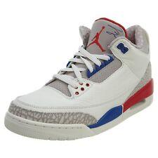 eaf55571cb6547 Air Jordan 3 Retro Charity Game Mens 136064-140 Sail Royal Red Shoes Size  9.5