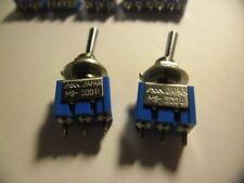 Toggle Switch MS-500 B 125V~/6A MS500B Miyama.on-(on).JAPAN.BASCULE.(X2)