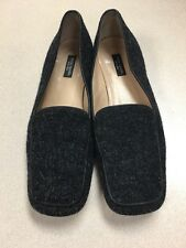 Kate Spade Black Wool Tweed Slip On Loafers Ballet Flats Work Shoes Sz 7 Rare