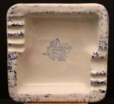 Vintage Western Stoneware Monmouth Pottery Square Ashtray Speckled