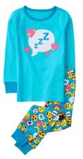 NEW GYMBOREE GIRLS EMOJI  GYMMIES PAJAMAS SLEEPWEAR NWT SIZE 7