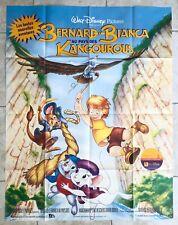Affiche de cinéma de 1991, Dessin animé BERNARD & BIANCA Disney Poster 115x150