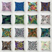 Leopard Print Zebra Polyester Pillow Case Sofa Throw Cushion Cover Home Decor