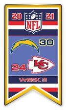 2021 Semaine 3 Bannière Broche NFL San Diego Vs.Chiefs Football Super Bol