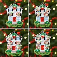 Personalised Family Christmas Tree Xmas Decoration Ornament -  House Family
