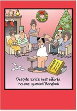 B1689 Box Set of 12 Bangkok Hilarious Christmas Paper Cards with Card Envelopes