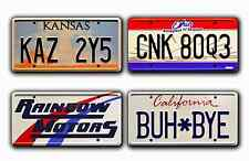Supernatural / Winchester's Impala / *STAMPED* 4 Plate Prop License Plate Combo