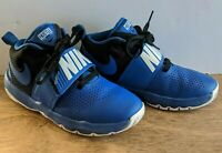 Nike Team Hustle Boys Basketball Sneakers Royal Blue/Black, Youth Size 4