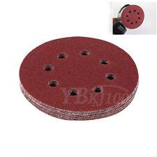 10PCS 5 inch 125mm Round Shaped Sanding Disc Pads 8 Hole Sandpaper 60-1000 Grit