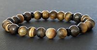 Spiritual Beads Men's Bracelet 8mm Bronzite and Matte Tiger's Eye